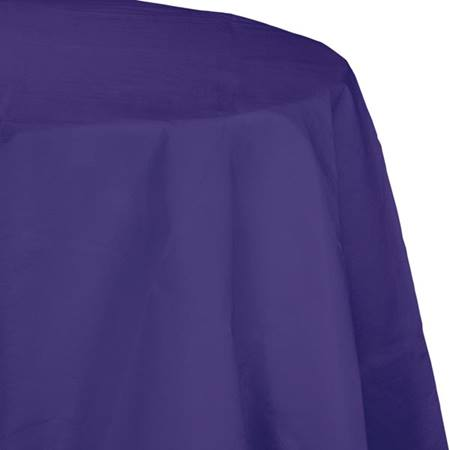 Poly Lined Tissue Round Tablecover - Purple