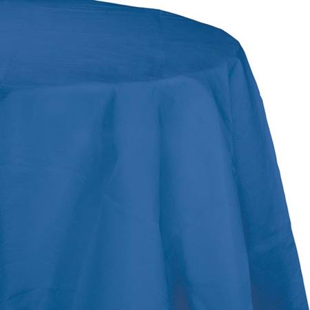 Poly Lined Tissue Round Tablecover - True Blue