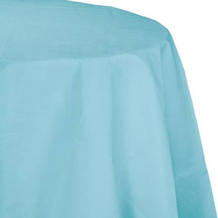 Poly Lined Tissue Round Tablecover - Pastel Blue