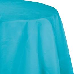 Poly Lined Tissue Round Tablecover - Bermuda Blue