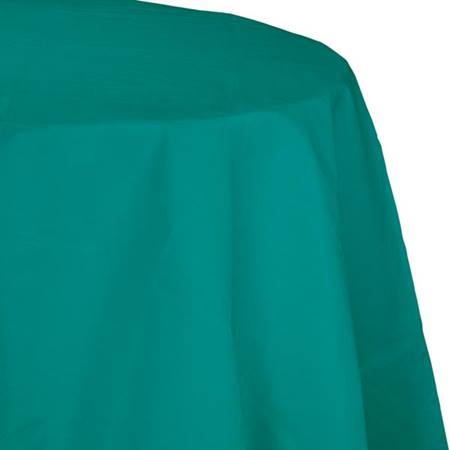Poly Lined Tissue Round Tablecover - Teal