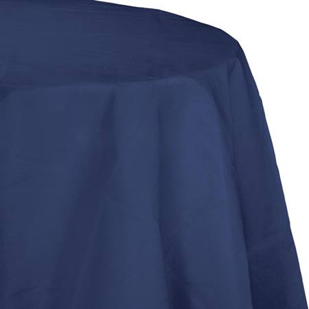 Poly Lined Tissue Round Tablecover - Navy Blue