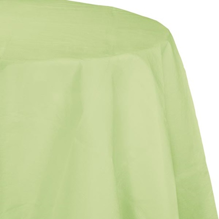 Poly Lined Tissue Round Tablecover - Pistachio