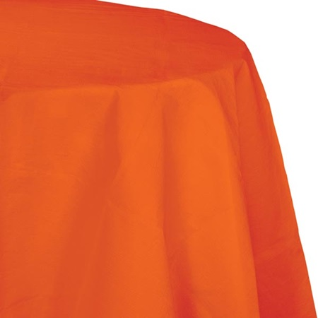 Poly Lined Tissue Round Tablecover - Sunkissed Orange