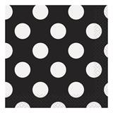 Black Decorative Dots Beverage Napkins
