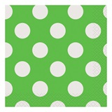 Lime Decorative Dots Beverage Napkins