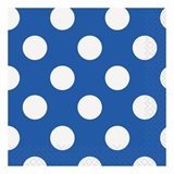 Blue Decorative Dots Beverage Napkins