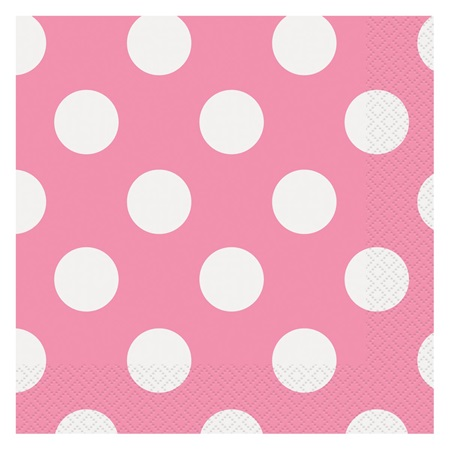 Pink Decorative Dots Luncheon Napkins
