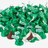 Hershey's Kisses® Chocolate Candies - Dark Green Foil