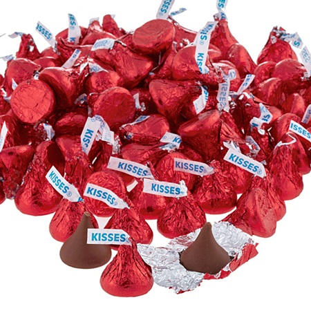 Hershey's Kisses® Chocolate Candies - Red Foil