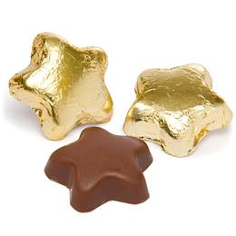 Milk Chocolate Stars with Gold Foil Wrapper