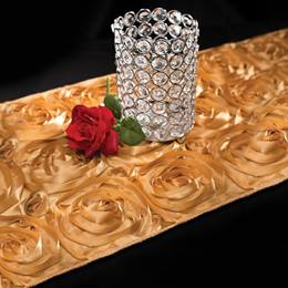 Rosette Satin Table Runner