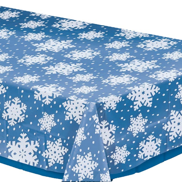 Beautiful Snowflake Plastic Tablecover