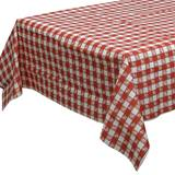 Red Gingham Poly Lined Tissue Table Cover