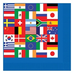 International Flag Luncheon Napkins