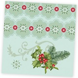 Holly Collage Luncheon Napkins