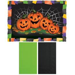 Pumpkin Placemat and Napkin Combo Pack