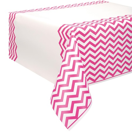 Hot Pink Chevron Table Cover