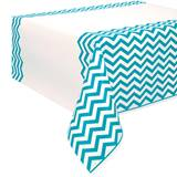 Teal Chevron Table Cover