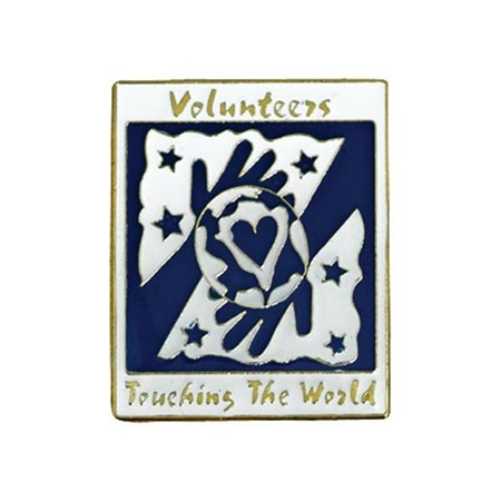 Volunteers Touching the World Lapel Pin