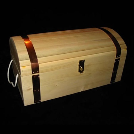 Small Natural Pine Treasure Chest Promotion