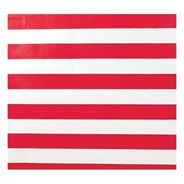 Red and White Stripes Corrugated Paper