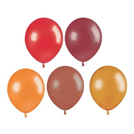 Assorted Fall Metallic Colors Latex Balloons, 11 in.