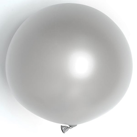 Metallic Silver Latex Balloons - 36 in.
