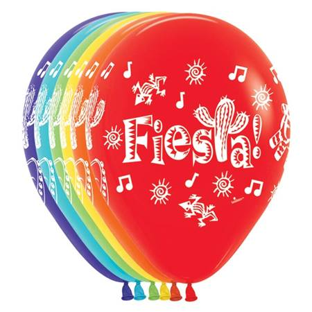 Fiesta Latex Balloons