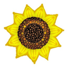 Sunflower Shape Metallic Balloon