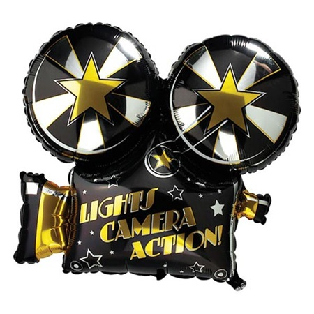 Movie Camera Metallic Balloon