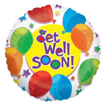 Get Well Balloon, 18 inches