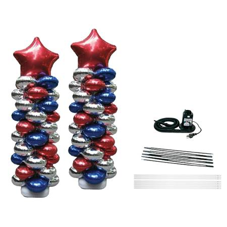 Foil Balloon Columns Kit With Balloons