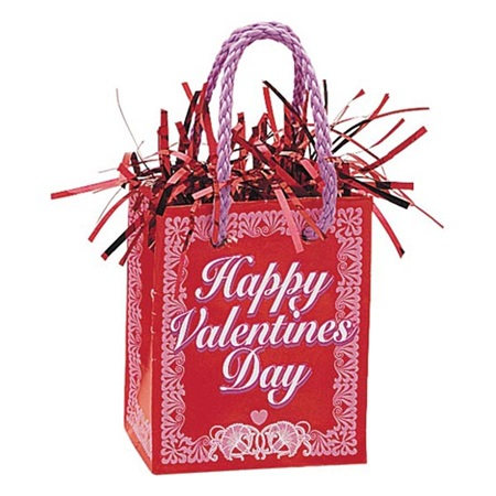 Happy Valentines Day Gift Bag Balloon Weight
