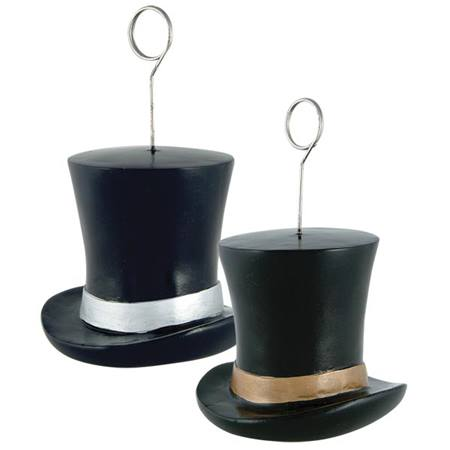 Silver Top Hat Photo / Balloon Holder
