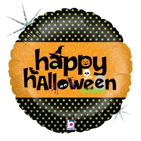 All Things Halloween Foil Balloon, 18 in.