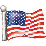 American Flag-Shaped Foil Balloon