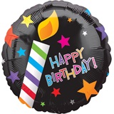 Happy Birthday Foil Balloon - Candle