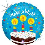 Make A Wish Birthday Foil Balloon