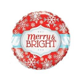 Merry & Bright Snowflake Metallic Balloon
