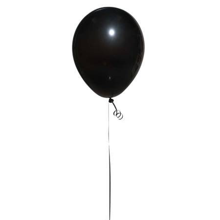Fashion Black Latex Balloons, 25/pkg
