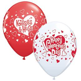 Valentine's Kisses and Hugs Balloons