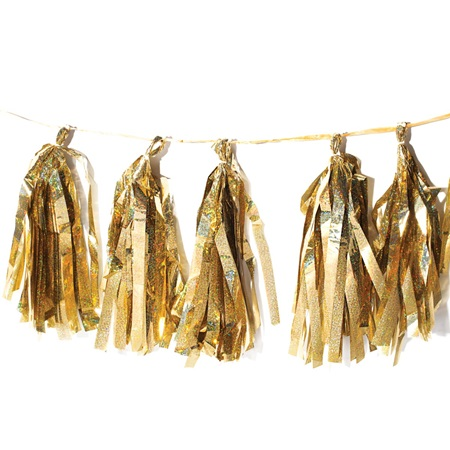 Gold Metallic Tassel Garland
