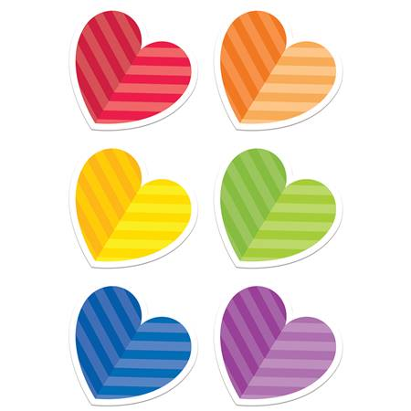 Rainbow Hearts Cutout Value Pack