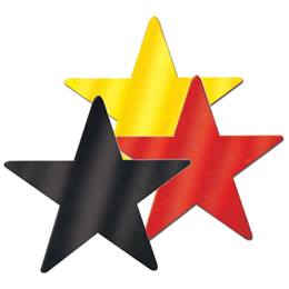 Foil Laminated Star Cut-outs - 5 in.