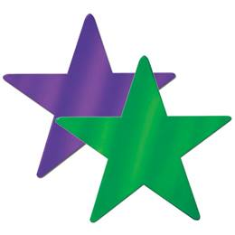 Foil Laminated Star Cut-Outs
