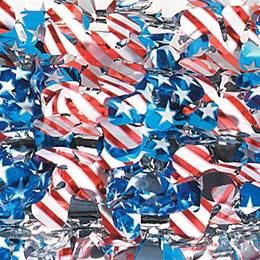 Metallic Stars & Stripes Floral Sheeting