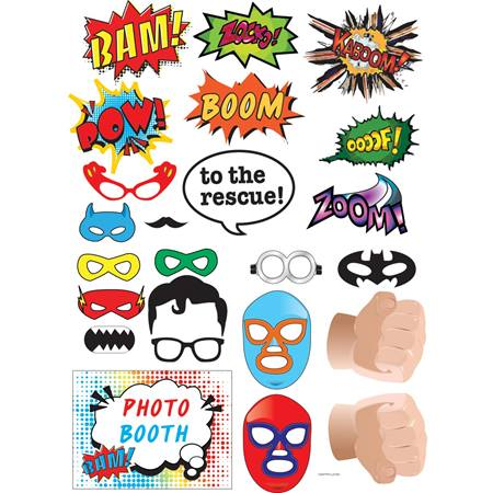 Superhero Photo Props Kit