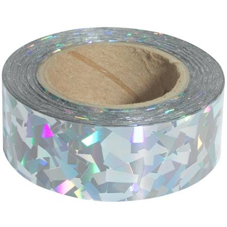 Silver Diamond Holographic Tape