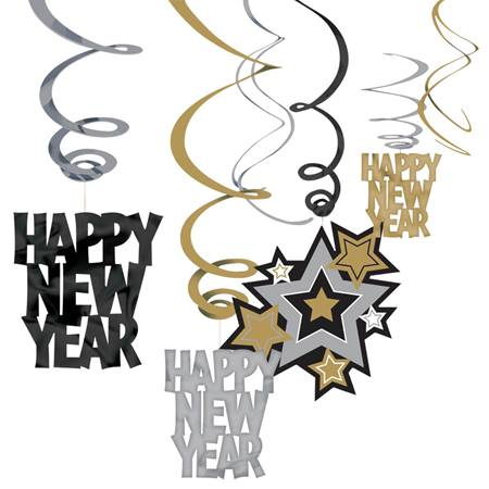 Happy New Year's Swirl Decorating Kit